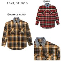 FEAR OF GOD Button-down Wool Long Sleeves Shirts