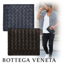BOTTEGA VENETA Street Style Leather Folding Wallets