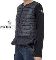 MONCLER Blended Fabrics Long Sleeves Plain Cardigans