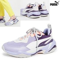 PUMA THUNDER SPECTR Round Toe Lace-up Casual Style Street Style Leather