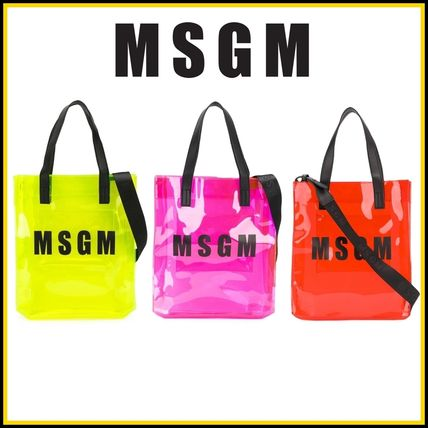 Casual Style Unisex 2WAY Crystal Clear Bags PVC Clothing