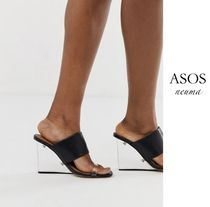 ASOS Open Toe Casual Style Blended Fabrics Street Style Sandals
