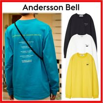 ANDERSSON BELL Unisex Street Style Long Sleeves Cotton T-Shirts