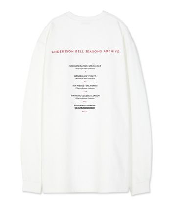 ANDERSSON BELL Long Sleeve Unisex Street Style Long Sleeves Cotton Long Sleeve T-Shirts 17