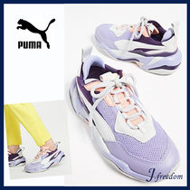 PUMA THUNDER SPECTR Round Toe Rubber Sole Lace-up Casual Style Unisex