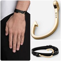 Ron Herman Unisex Street Style Plain Leather Bracelets