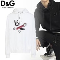 Dolce & Gabbana Unisex Long Sleeves Plain Cotton Hoodies