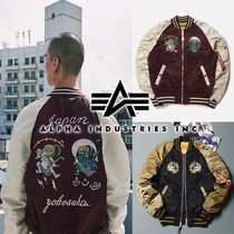 ALPHA INDUSTRIES Short Unisex Street Style Souvenir Jackets