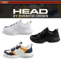 ROMANTIC CROWN Casual Style Unisex Street Style Logo Low-Top Sneakers