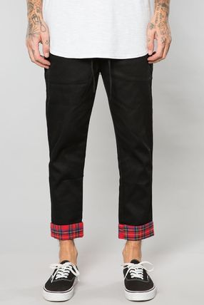 Tapered Pants Tartan Street Style Plain Tapered Pants