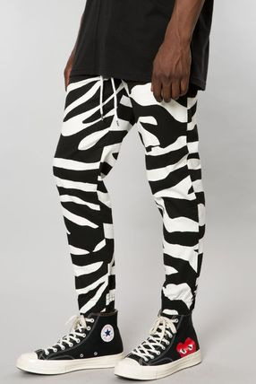 Tapered Pants Zebra Patterns Street Style Tapered Pants