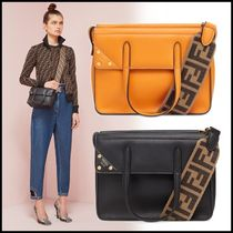 FENDI 2WAY Leather Shoulder Bags