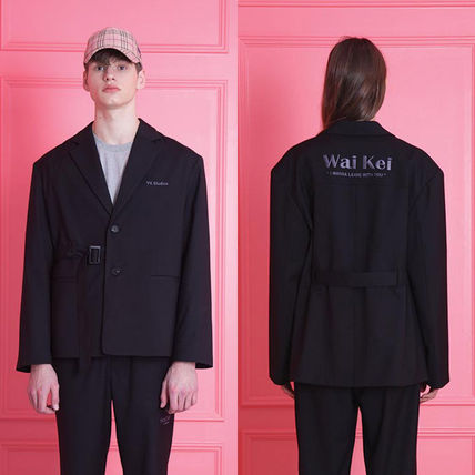 Unisex Plain Medium Oversized Jackets