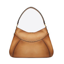 VALENTINO Studded A4 2WAY Plain Leather Office Style Handbags