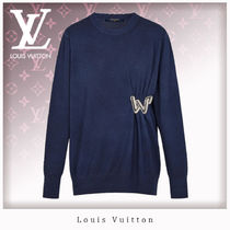 Louis Vuitton Crew Neck Casual Style Wool Long Sleeves Sweaters
