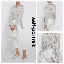 SELF PORTRAIT Stripes Casual Style Long Sleeves Shirts & Blouses