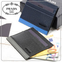 PRADA Bi-color Leather Card Holders