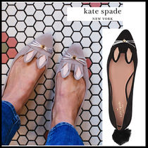 kate spade new york Casual Style Suede Studded Plain Other Animal Patterns