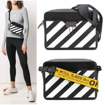 Off-White Unisex Leather Shoulder Bags