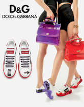 Dolce & Gabbana Unisex Street Style Low-Top Sneakers