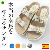 Penelope Collection Star Platform Casual Style Leather Sport Sandals