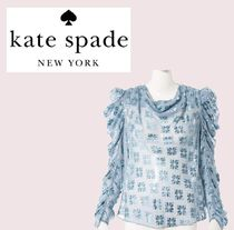 kate spade new york Medium Elegant Style Puff Sleeves Shirts & Blouses