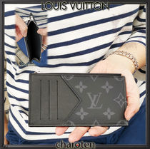 Louis Vuitton TAIGA Monogram Calfskin Plain Coin Cases