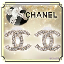 CHANEL Costume Jewelry Elegant Style Earrings & Piercings