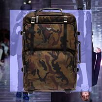 PRADA Camouflage Street Style Leather Bags