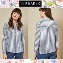 TED BAKER Stripes Casual Style Long Sleeves Medium Shirts & Blouses