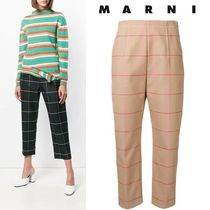 MARNI Other Check Patterns Wool Long Elegant Style