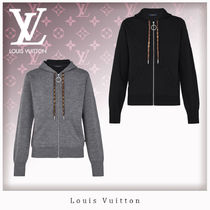 Louis Vuitton Unisex Cashmere Long Sleeves Cashmere