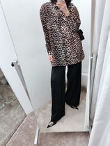 Ganni Leopard Patterns Long Sleeves Shirts & Blouses