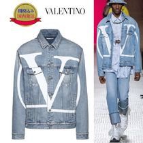 VALENTINO Short Denim Plain Denim Jackets Jackets