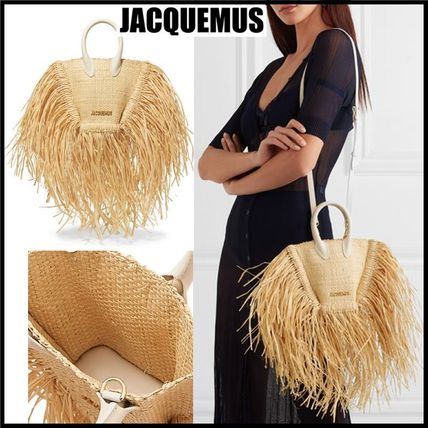 Unisex Blended Fabrics Straw Bags