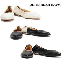 Jil Sander Plain Leather Slip-On Shoes