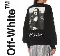 Off-White Unisex Henry Neck Collaboration Bi-color Long Sleeves Cotton