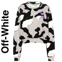 Off-White BINDER CLIP Camouflage Unisex Henry Neck Collaboration Long Sleeves