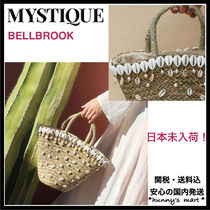 Mystique Blended Fabrics With Jewels Straw Bags