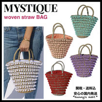 Mystique Blended Fabrics Straw Bags