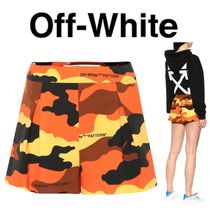 Off-White Short Camouflage Casual Style Collaboration Cotton