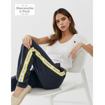 Abercrombie & Fitch Stripes Casual Style Sweat Street Style Long Sweatpants