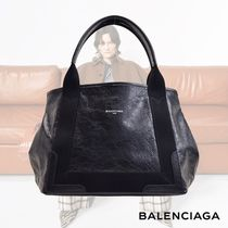 BALENCIAGA CABAS 2WAY Plain Leather Totes