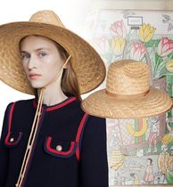 GUCCI Unisex Street Style Straw Hats
