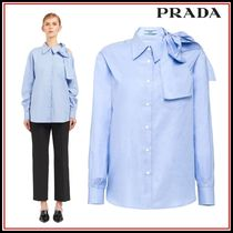 PRADA Long Sleeves Plain Shirts & Blouses