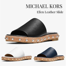 Michael Kors Open Toe Casual Style Plain Leather Sandals
