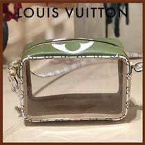 Louis Vuitton Monogram Casual Style Crystal Clear Bags PVC Clothing