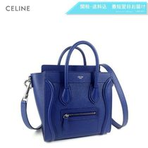 CELINE Luggage 2WAY Plain Leather Elegant Style Handbags