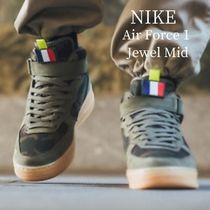 Nike AIR FORCE 1 Camouflage Street Style Leather Sneakers