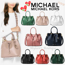 Michael Kors BLAKELY Casual Style 2WAY Plain Leather Shoulder Bags